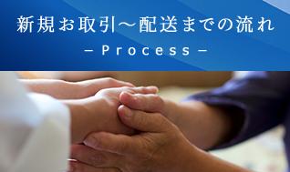 新規お取引~配送までの流れ-Process-